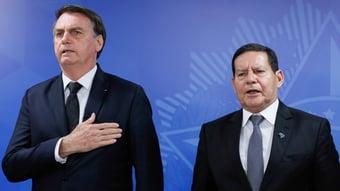 """IMAGEM: """"Nosso governo é de centro-direita"""", diz Mourão"""