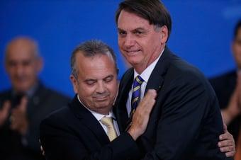 IMAGEM: Marinho em clima de campanha e com a bênção de Bolsonaro