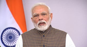 IMAGEM: 'Humanidade precisa de compromisso pelo clima', diz primeiro-ministro da Índia