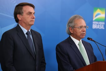 IMAGEM: Bolsonaro e Guedes devem bater o martelo sobre presidente do BB