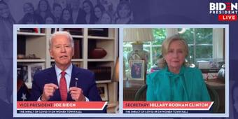 """IMAGEM: Hillary: """"Uma nova página para a América"""""""