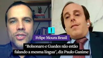 """IMAGEM: Vídeo: """"Bolsonaro e Guedes não estão falando a mesma língua"""", diz Paulo Ganime"""
