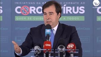 """IMAGEM: """"Sou um leal adversário do presidente naquilo que é ruim para o Brasil"""", diz Maia"""