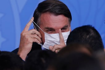 """IMAGEM: """"Não pegou ainda? Vai pegar, vai pegar"""", diz Bolsonaro, sobre Covid-19"""
