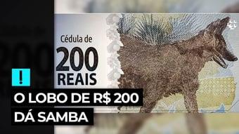 IMAGEM: Vídeo: o lobo de R$ 200 dá samba