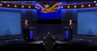IMAGEM: Audiência de debate com Trump e Biden cai 35% em relação a 2016