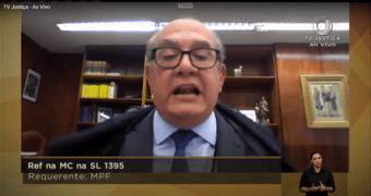 IMAGEM: Gilmar Mendes seleciona mensagens roubadas