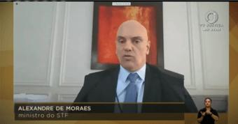 IMAGEM: Inquéritos do STF podem ajudar a combater 'milícias digitais', diz Moraes