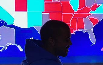 IMAGEM: Rapper Kanye West recebe 60 mil votos para a Casa Branca