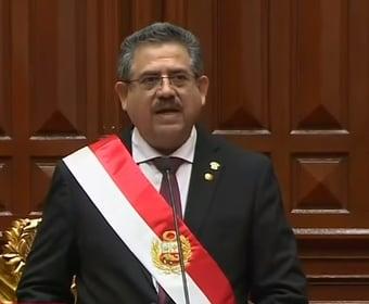 IMAGEM: Presidente do Congresso torna-se o 3º presidente do Peru em 4 anos