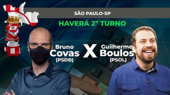 IMAGEM: SÃO PAULO: BRUNO COVAS E GUILHERME BOULOS VÃO AO 2º TURNO