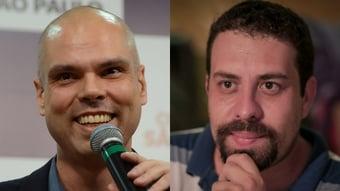 IMAGEM: Covas e Boulos na coxia do debate
