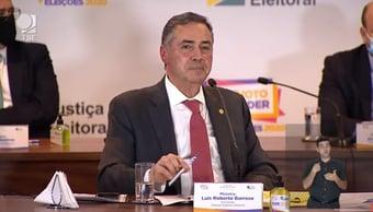 IMAGEM: Barroso volta a falar em 'esforço de desacreditar o processo eleitoral'