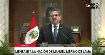 IMAGEM: Presidente interino do Peru renuncia menos de uma semana depois da posse