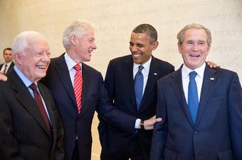 IMAGEM: Covid-19: Obama, Bush e Clinton se oferecem para tomar vacina