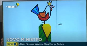 IMAGEM: Marco do governo Bolsonaro é escultura do Romero Britto