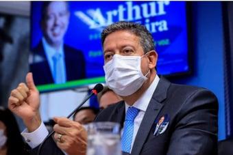 IMAGEM: Os 36 deputados do PSL com Arthur Lira