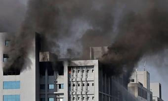 IMAGEM: Incêndio no Instituto Serum matou ao menos 5 pessoas