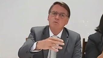 """IMAGEM: Bolsonaro: """"Não tem por que ter esse trauma todo com a Covid"""""""