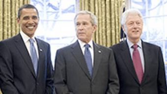IMAGEM: Clinton, Bush e Obama irão à posse de Biden