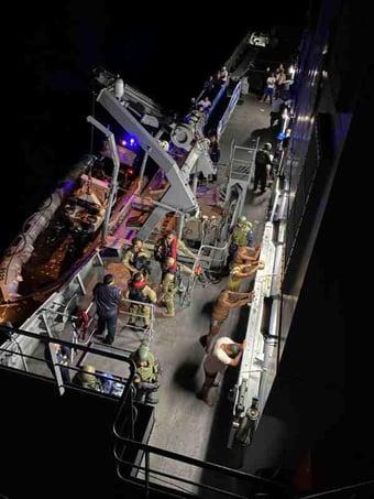 IMAGEM: Marinha intercepta veleiro com uma tonelada e meia de cocaína