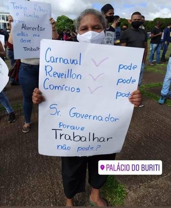 IMAGEM: Comerciantes voltam a protestar contra lockdown em Brasília