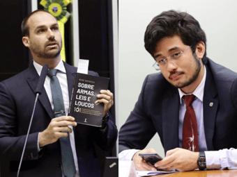 IMAGEM: Eduardo Bolsonaro acusa Kim Kataguiri de calúnia, injúria e difamação