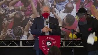 IMAGEM: Lula exalta o SUS e critica postura de Bolsonaro na pandemia