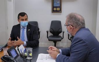 IMAGEM: Queiroga se reúne com governador do Amazonas