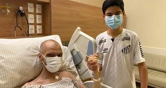 IMAGEM: Covas posta foto com filho em hospital: 'mais uma batalha vencida'