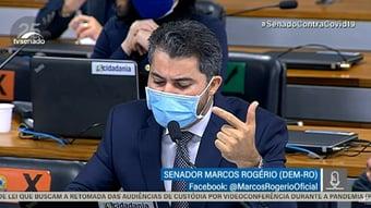"""IMAGEM: Marcos Rogério ataca Renan: """"Não se conforma com respostas que não atendem às suas expectativas"""""""