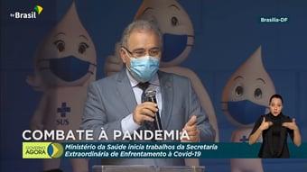 """IMAGEM: Queiroga diz que ministério """"sempre foi"""" melhor referência para dados da pandemia"""