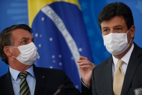 Reunião pacífica de Mandetta com Bolsonaro