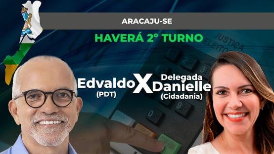 Ibope em Aracaju: Edvaldo Nogueira, 64%; Delegada Danielle, 36%