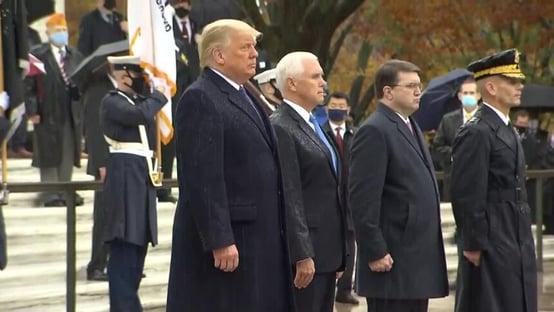 Trump tem 1º compromisso público após derrota
