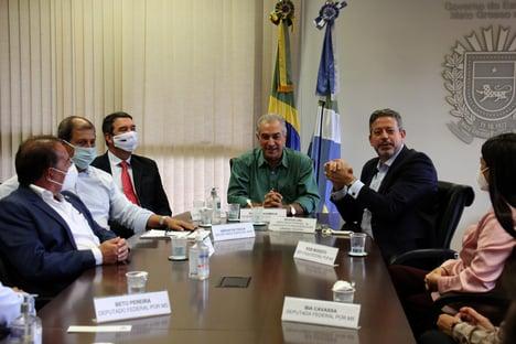 Lira é recebido por governador do PSDB
