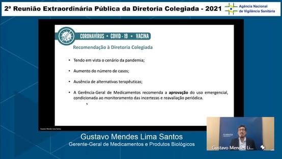 Gerência de Medicamentos da Anvisa recomenda aprovação do 2º lote da Coronavac