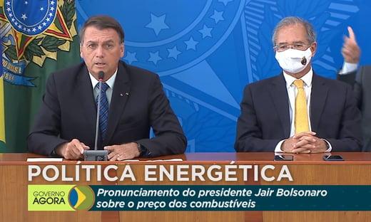 Bolsonaro afirma que vai zerar tributos no diesel e gás de cozinha