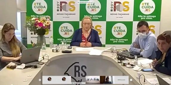 """""""Estamos apavorados"""", diz secretária de Saúde do Rio Grande do Sul"""