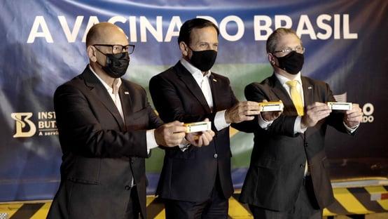 """Doria diz que todos os """"brasileiros residentes em São Paulo estarão imunizados até o fim do ano"""""""