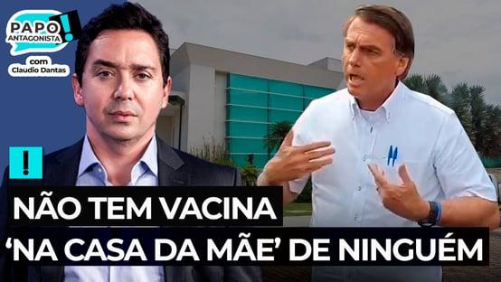 Bolsonaro dá chilique para acobertar mansão de Flávio