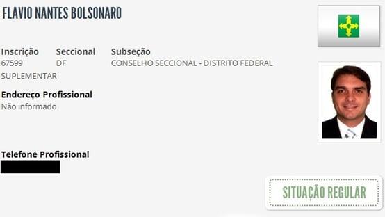 O advogado Flávio Bolsonaro