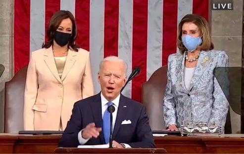 Em 1º discurso no Congresso, Biden diz que herdou uma nação em crise