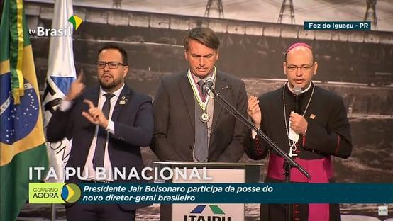 """Bolsonaro diz que STF """"vai dar uma boa resposta"""" sobre cultos, e chama bispo para rezar em Itaipu"""