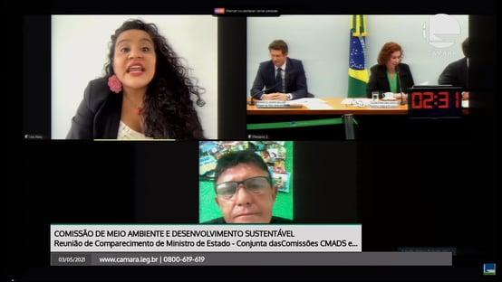Bate-boca: deputados interrompem parlamentar que citou viagens de Salles ao Pará