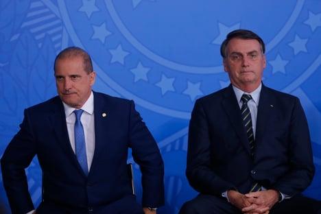 Bolsonaro irritado com Onyx