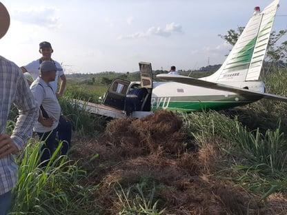 Avião que derrapou com corregedor da Câmara é da igreja que ele preside e não poderia ser usado para política