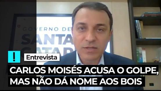 Vídeo: Carlos Moisés acusa golpe, mas não dá nome aos bois