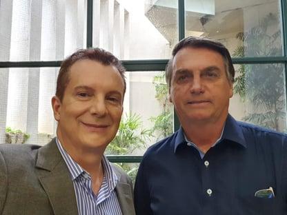 Em SP, Bolsonaro encontra Russomanno