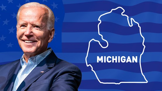 BIDEN VENCE NO MICHIGAN